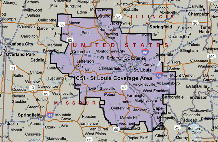 CSI - St Louis Coverage Area